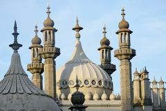 Roof and spires of Brighton Pavilion Stock Photos