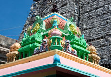 Roof of Sri Meenakshi hindu temple in Madurai Royalty Free Stock Image