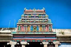 Roof of Sri Meenakshi hindu temple in Madurai Royalty Free Stock Photography