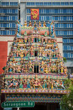 Roof of Sri Veeramakaliamman Temple in Little India, Singapore Royalty Free Stock Photography