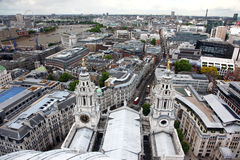 Roof of St Pauls and  London Royalty Free Stock Photos