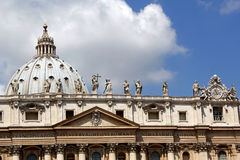 The roof of St Peters Basilica, the Vatican Stock Images