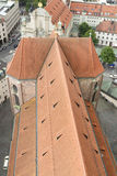 Roof of St Peter's Church, Munich. Royalty Free Stock Photos
