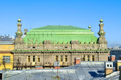 The roof of the St. Petersburg Theatre of Comedy named after N.P. Akimov on Nevsky Prospect in Saint-Petersburg, Russia Royalty Free Stock Photos