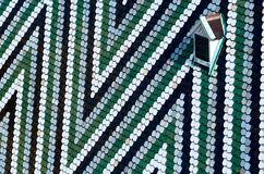 Roof of St. Stephen`s Cathedral - Stephansdom in Vienna, Austria, pattern of coloured glazed tiles Stock Images