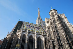 The roof of St Stephen's cathedral in Vienna Royalty Free Stock Photo
