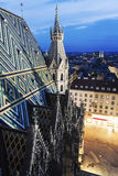 Roof of St. Stephen's Cathedral in Vienna Royalty Free Stock Images