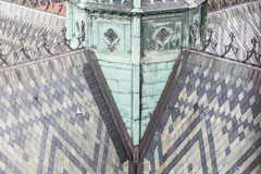 Roof of St. Vitus Cathedral. Royalty Free Stock Image