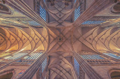 Roof of the St.Vitus Cathedral in Prague. Czech Republic. vintage effect royalty free stock photo