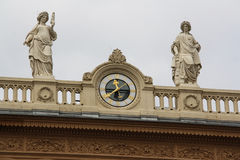 Roof Statues in Hofburg Quarters in Vienna Stock Image