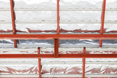 Roof steel architecture under construction Royalty Free Stock Image