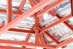 Roof steel architecture under construction Stock Image
