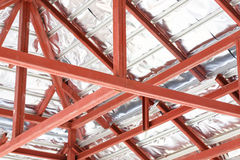 Roof steel architecture under construction Royalty Free Stock Photography