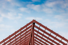 Roof steel architecture under construction Stock Photo