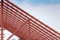 Roof steel architecture under construction Royalty Free Stock Images