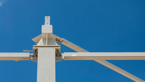 Roof steel beams connection detail  Stock Photos