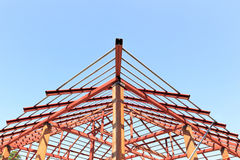 Roof steel construction for new house Royalty Free Stock Photo