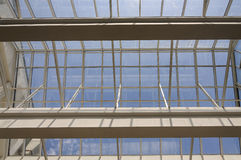 Roof steel glass structure Stock Images