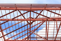 Roof steel install for new house Royalty Free Stock Photo
