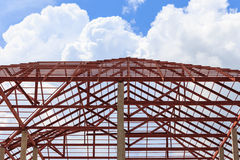 Roof steel install for new house Royalty Free Stock Photos