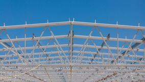 Roof steel structure Stock Photos