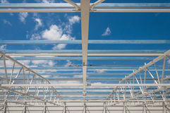 Roof steel structure construction site Stock Images