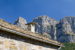 Roof and Steep Cliffs Stock Image