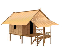 Roof Straw hut Stock Images