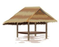 Roof straw hut. Vector design Stock Illustration