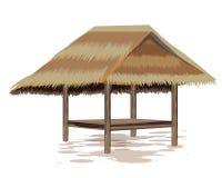 Roof straw hut. Vector design stock illustration