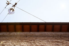 Roof and Street Lamp Royalty Free Stock Photography
