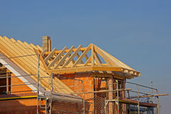 Roof structure. Of a house with bay Stock Image