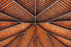 Roof structure. Of pavilion in park stock photo
