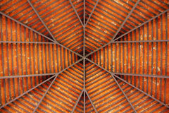 Roof structure. Of pavilion in park royalty free stock photos