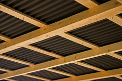 Roof structure. Wood roof strucuture Stock Photo