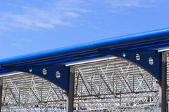 Roof structure. Steel roof structure, before the roof is put on stock photo