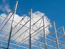Roof structure against blue sky Royalty Free Stock Photography