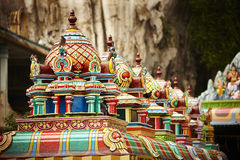 Roof structure of Batu Caves, Malaysia Stock Photos