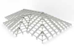 Roof. Structure in the construction Stock Image