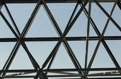 Roof structure. Metal structure of the roof Royalty Free Stock Images