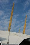 Roof structure of the O2 Arena, Greenwich, London, England Royalty Free Stock Photo