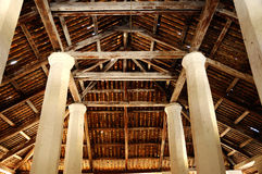 Roof Structure of The Old Mosque of Pengkalan Kakap in Merbok, Kedah Royalty Free Stock Photos