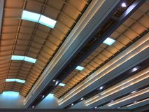 Roof Structure with Reflected Lights Royalty Free Stock Photo