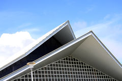 Roof style. Simple style of roof, neat and orderly arranged Royalty Free Stock Photo