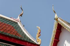 Roof style of thai temple Royalty Free Stock Photo