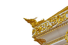 Roof style of thai temple with naga on the top Royalty Free Stock Images