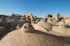 Roof of Sultan Mir Ahmed Hammam (bathhouse), Kashan Royalty Free Stock Photography