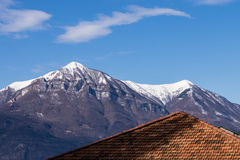 Roof superimposed on mountain Royalty Free Stock Photos