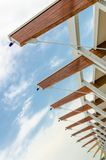 Roof support of modern building Stock Photos