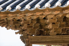 Roof support system of Korea Stock Images